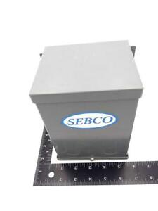 Sebco 1112 Magnetic Low Voltage Transformer 120vac 60hz 150w 1 4 Amp 24v