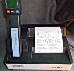 Welch Allyn Microtymp 3 Tympanometer New Mother Board Calibrated Printer