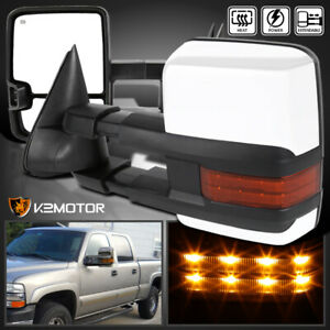 99 02 Silverado Sierra Facelift Power Heat Extended Towing Mirrors W Led Signal
