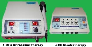 Combo Offer 2 Machine In One Sale Ultrasound 1 Mhz Electrotherapy 4 Channel B