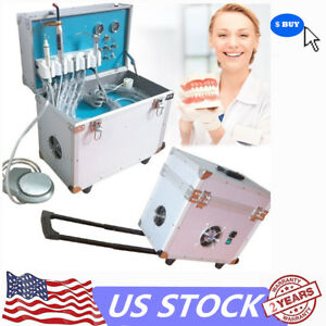 Dental Portable Delivery Rolling Case led Curing Light ultrasonic Scaler 4hole