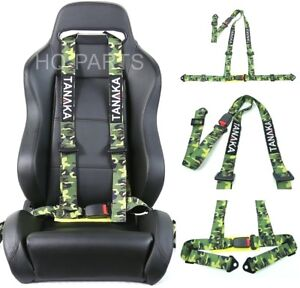 Tanaka Buggy Series Universal Camouflage 3 Point Buckle Racing Seat Belt Harness