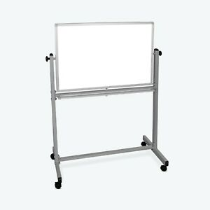 Offex Double Sided Reversible Dry Erase Magnetic Whiteboard 36 w X 24 h