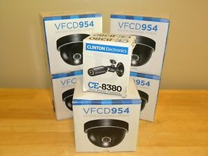 Clinton Electronics Lot 4 X Vfcd954 Indoor Dome 1 X Ce 8380 Camera New