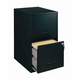 Black Metal 2 drawer Vertical Filing File Cabinet Made In Usa