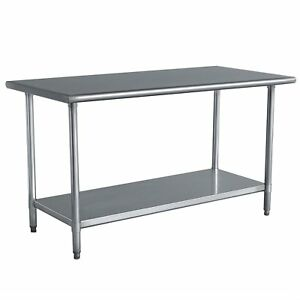 Stainless Steel Top Utility Table High Top Workbench Prep Table 24 X 48 Inch