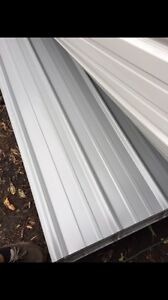 3x25 Brand New Metal Roofing Panels Light Gray Color 50 Sheets