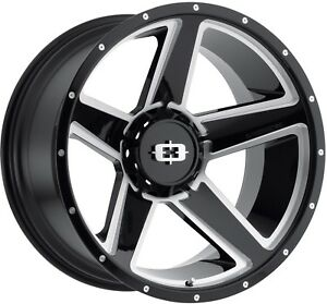 20 Inch Tundra Sequoia Black N Milled Rims 20x9 35mm 5x150 Set Of 4 Wheels