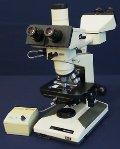 211436 Olympus Model Bhtu Superwide Trinocular Dual head Teaching Microscope