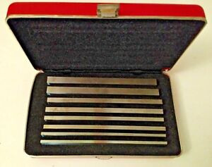Starrett No 384 Steel Parallels Set