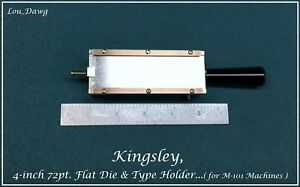Kingsley Machine 4 inch 72pt Flat Die Type Holder Hot Foil Stamping Machine