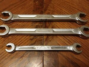 Snap On Usa 3pc Set Of Double Flare Nut Line Wrenches Rxh2426s rxh2022s rxm911s