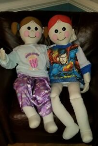 1977 Boogie Bear s Design And Display Factory Bendable Dolls 36 Boy girl Set
