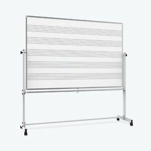 Offex Ofx 435770 lx 72 X 48 Double Sided Mobile Music Whiteboard whiteboard