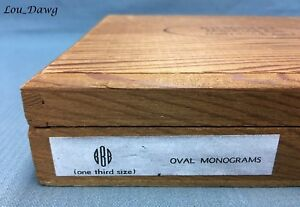 Kingsley Machine 72pt Oval Monograms Initials 1 3 Hot Foil Stamping Machine
