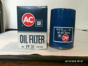 Vintage Ac Gm Oil Filter Pf31 New Old Stock 6437996