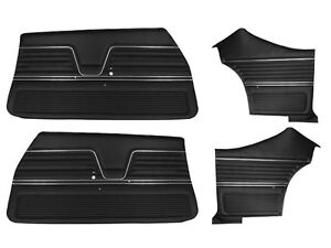 1969 Chevelle Coupe Door Panels Front And Rear Set In Black J 6650 In Stock