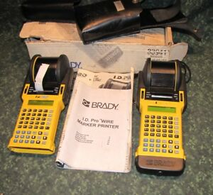 2 Brady I d Pro Wire Marker Printer Used Untested 41397 b3