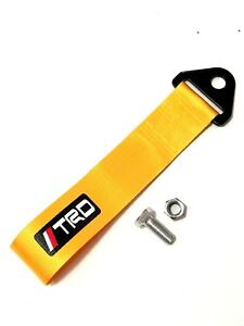 1x Gold Jdm Trd Racing Drift Rally Car Towing Strap Belt Hook Universal Fit