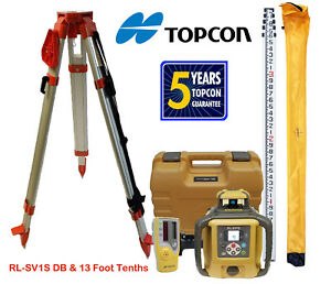 Topcon Rl sv1s Db Single Slope Self leveling Laser Level Tripod