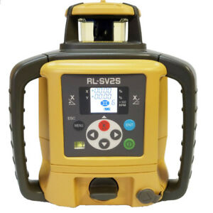 Topcon Rl sv2s Rb Dual Slope Self leveling Rotary Laser Level Rechargeable Model