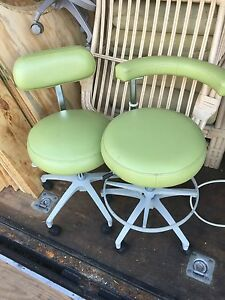 Dental Dentist Medical Stool Assistant Chair Set Modern Lime Green Color