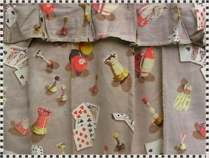 Vintage Mid Century Barkcloth Fabric Curtains Man Cave Game Room 4 Top 8 Panels