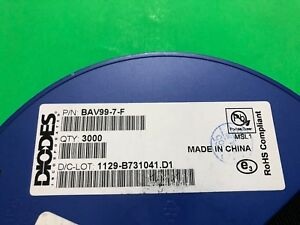 Bav99 7 f Diodes Array General Purpose Power Switching 75v 300ma Reel Of 3000