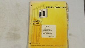 Original International Harvester Parts Catalog For Grain And Fertilizer Drills