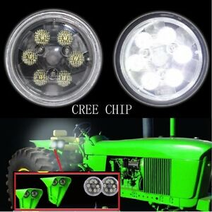 4 5 Inch 18w Round Cree Led Work Lights For John Deere s Tractor Pair
