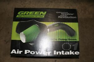 New Green High Performance Air Filter 2572 Cold Air Intake Hummer H3 05 up