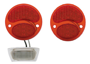 Pair 6 Volt Ford Model A Led Tail Light Conversion Inserts 1928 31 License Stop