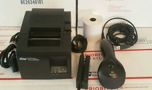 Star Micronics Tsp100 Usb Bundle Point Of Sale Thermal Printer Scanner Card