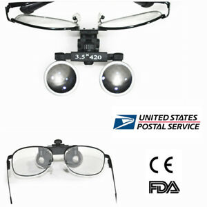 Metal Frame Dental Surgical Binocular Loupes 3 5x420mm Optical Glass Supplier Us