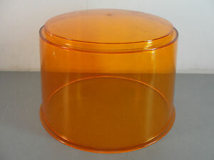 Federal Signal Amber F2 Model 100f Rotating Revolving Beacon Light Lens Dome