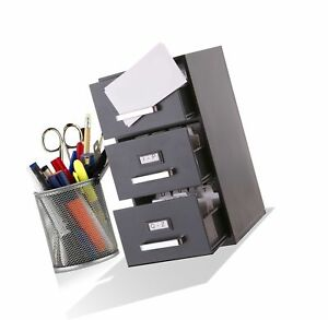 Mini File Cabinet Business Card Holder 3 drawer No Tax
