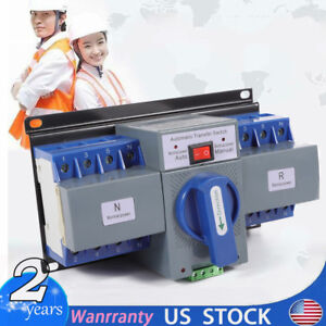 63a 4p Ats Dual Power Automatic Transfer Switches For Generator Self Cast Ac110v