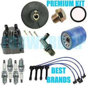 Complete Tune Up Kit Cap Rotor Ngk Wires Plug Pcv For Honda Crx Si 1 6l 1988 91