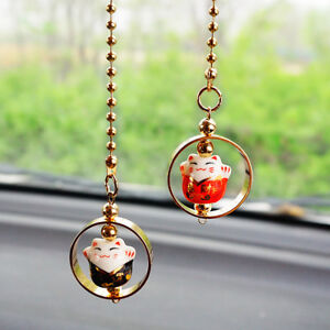 Car Rear View Mirror Hanging Decoration Lucky Cat Car Pendant Auto Accessories