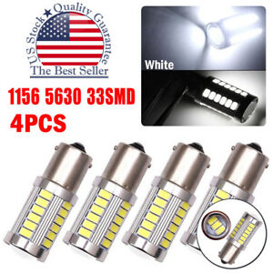 4x Hid White 1156 High Power 5630 33 Smd Led Backup Reverse Light Bulbs 6000k