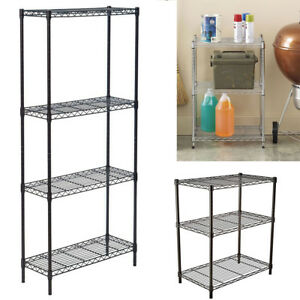 Adjustable Heavy Duty Nsf Wire Shelving Rack Chrome Shelf Organizer Storage Home