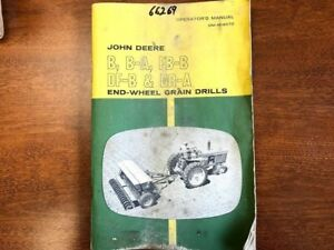 John Deere B B a Fb b Df b Dr a End wheel Grain Drill Operator s Manual 132