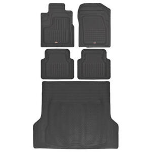 Motor Trend All Weather Rubber Car Floor Mats Cargo Trunk Liner Black 5pc