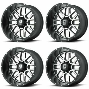 Set 4 18 Xd Series Xd820 Grenade Black Machined Rims 18x9 6x5 5 18mm Gmc 6 Lug