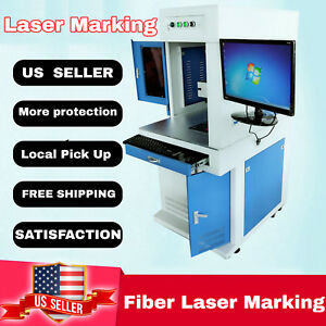 New Deluxe 30w Fiber Laser Marking Machine Laser Engraver All In One
