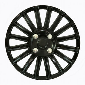 Fit 85 10 Volvo 15 Inch Set Of 4 Caps Full Set Black Wheel Covers Rims