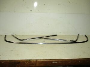 1961 61 Ford Fairlane Galaxie Rear Back Glass Window Moldings Trim Moulding