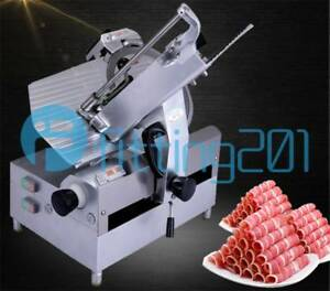 New 12 inch Table Automatic Commercial Slicer Planer Fattening Machine 220v 250w