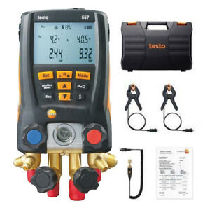 Testo Refrigeration 557 Digital Manifold Kit Testo 0563 1557 With Clamp Probe
