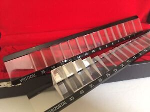 Brand New Prism Bar Ophthalmic Vertical Horizontal Set In A Secured Case